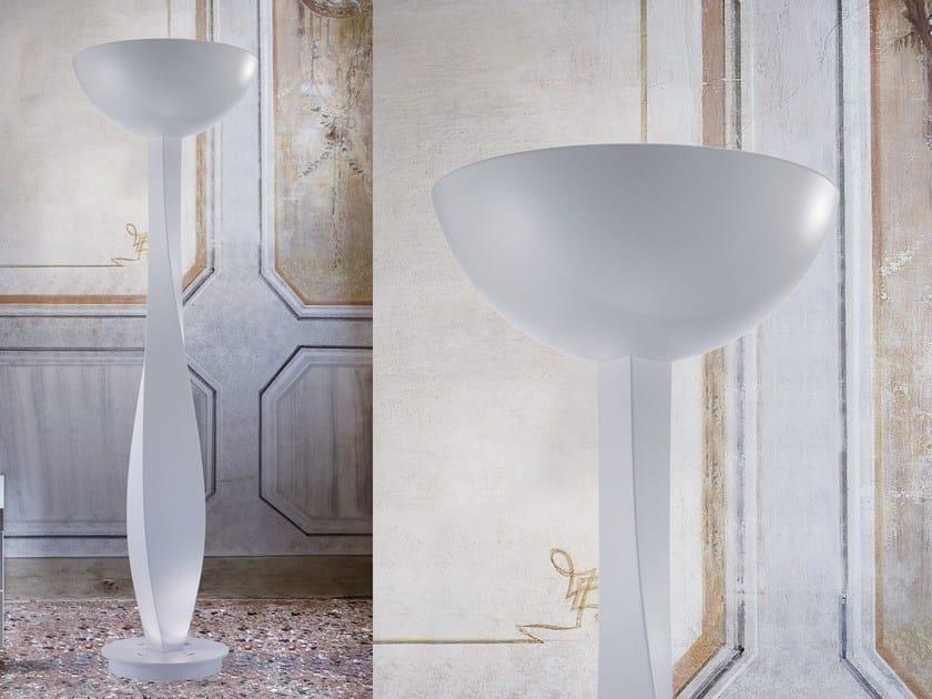 Indirect light expanded polyurethane floor lamp BOTERO | Floor lamp by Masiero