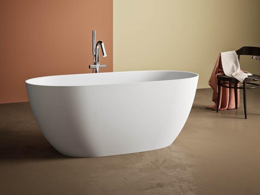 Vasca da bagno centro stanza ovale in Kstone BOTERO by Karol