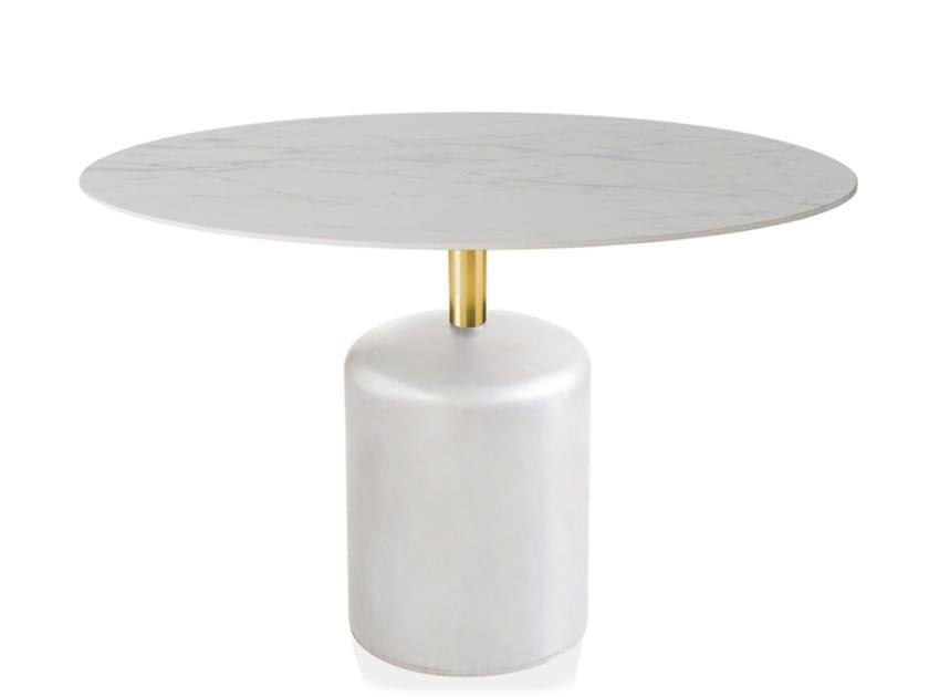Round iron table BOTERO | Round table by Vela Arredamenti