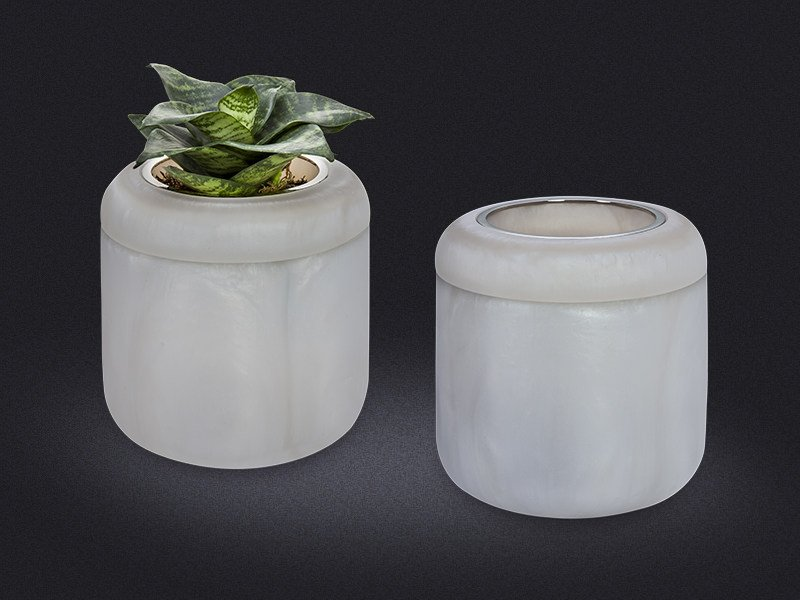 Resin bathroom waste bin / vase BOTTON SMALL | Bathroom waste bin by Vallvé