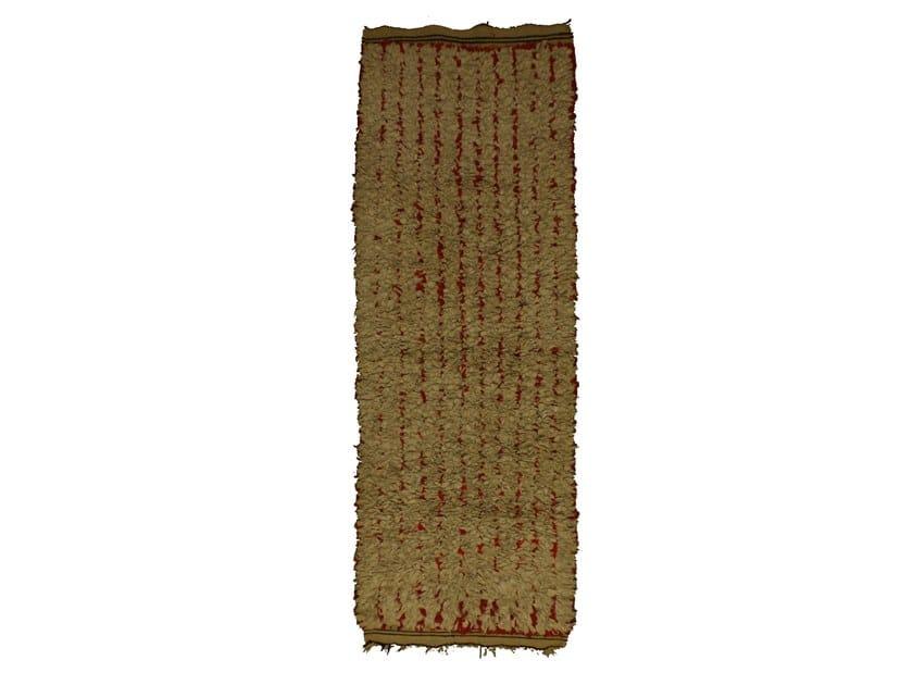 Long pile rectangular wool rug BOUCHEROUITE TAA1052BE by AFOLKI