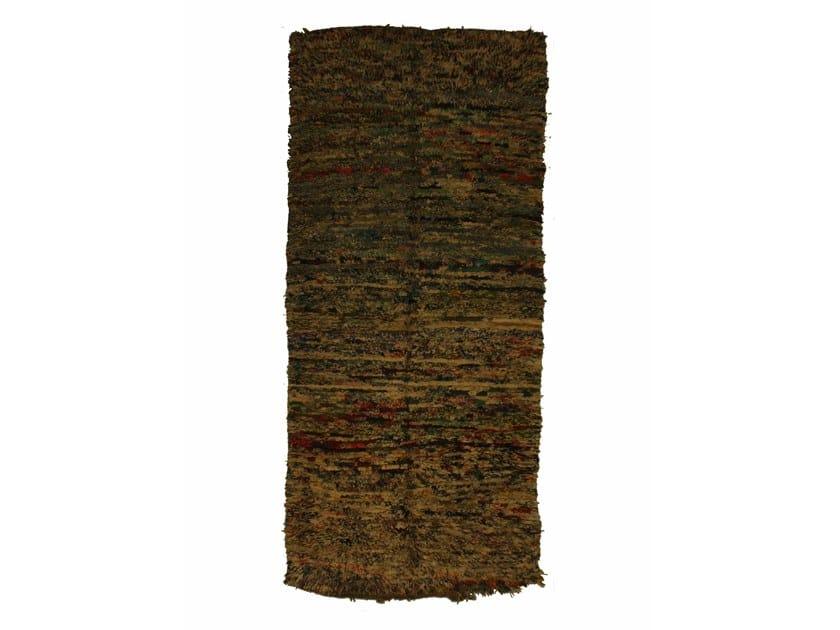 Long pile rectangular wool rug BOUCHEROUITE TAA1054BE by AFOLKI