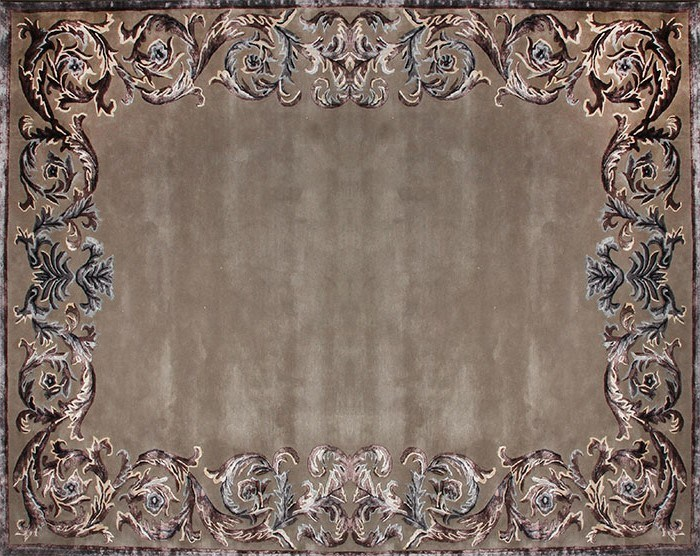 Classic style handmade rectangular rug BOUDEUSE FRAME by EDITION BOUGAINVILLE