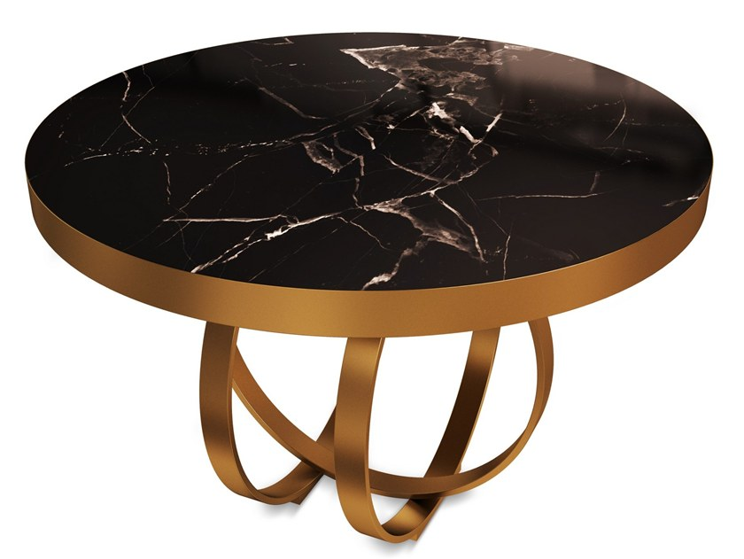 Round marble coffee table BOULDER by Porustudio