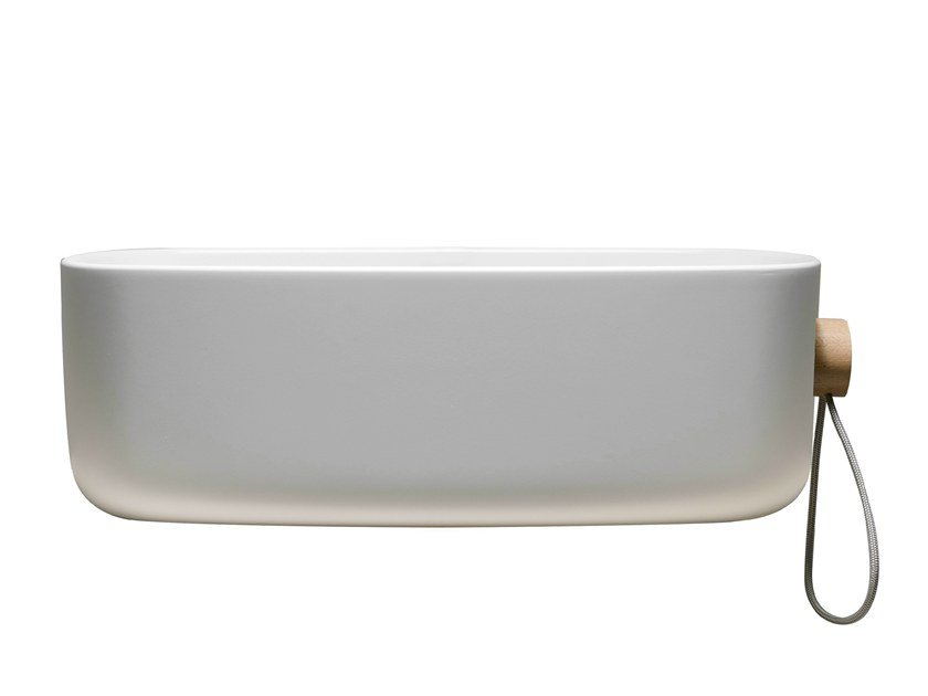 Cristalplant® washbasin with towel rail BOUNCE CORD CRISTALPLANT by EVER Life Design