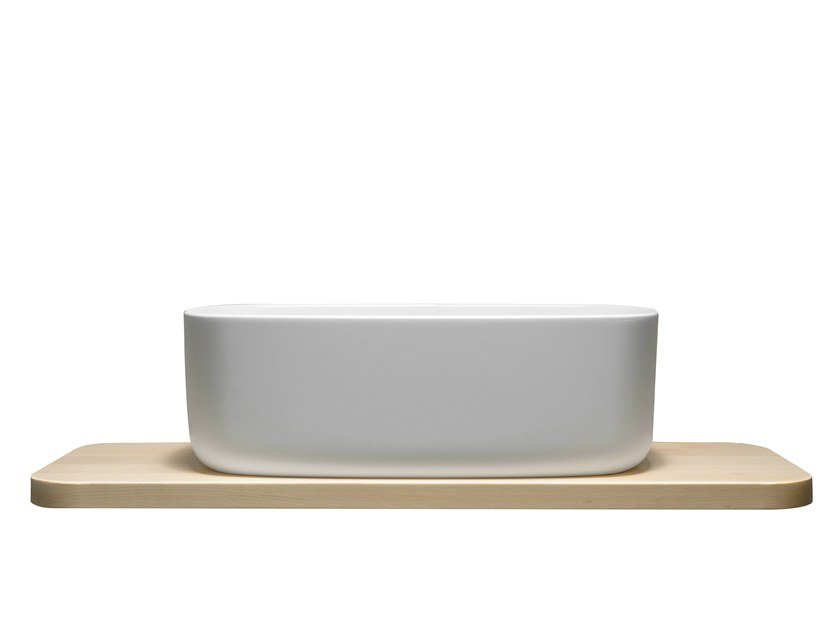 Single Cristalplant® washbasin BOUNCE COUNTER CRISTALPLANT by EVER Life Design