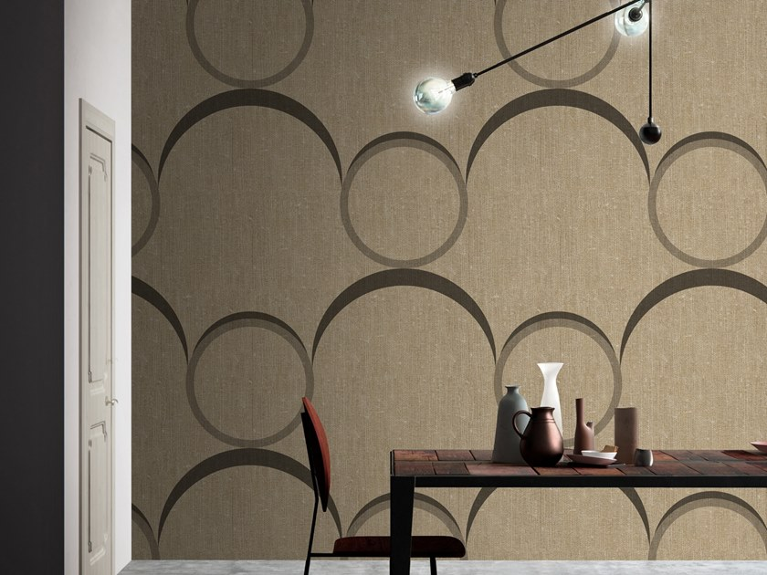 Motif washable vinyl wallpaper BOUQUET by Baboon