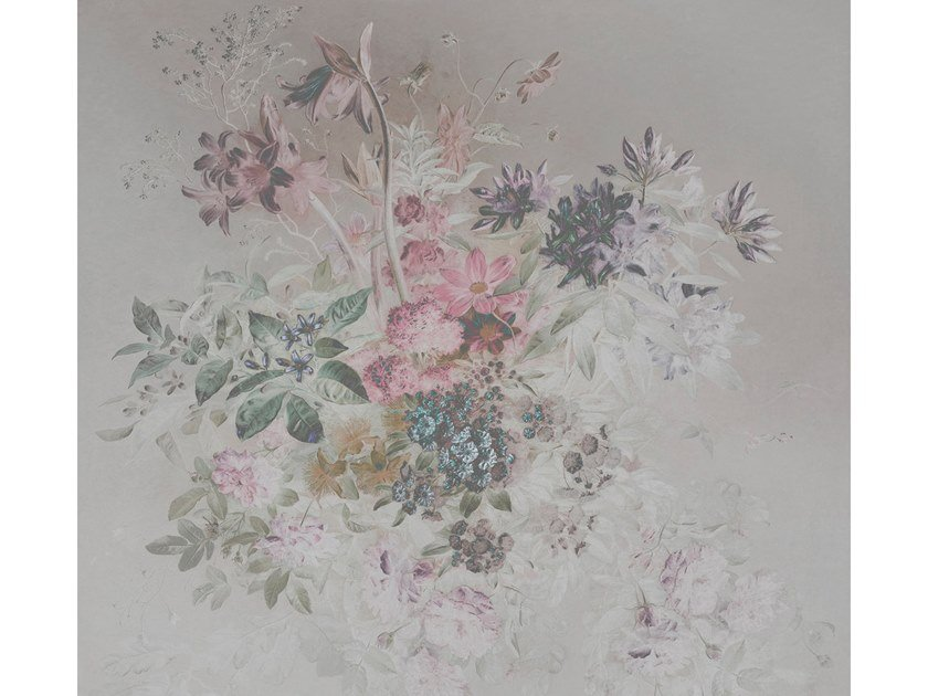 Digital printing wallpaper with floral pattern BOUQUET PASTEL by Architects Paper