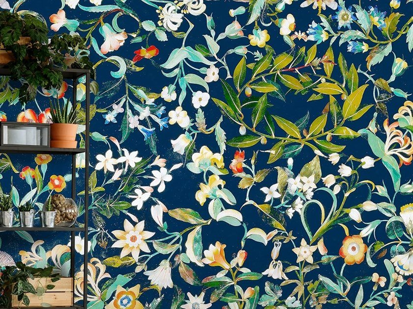 Tropical wallpaper, PVC free, eco, washable BOUQUET by Wallpepper