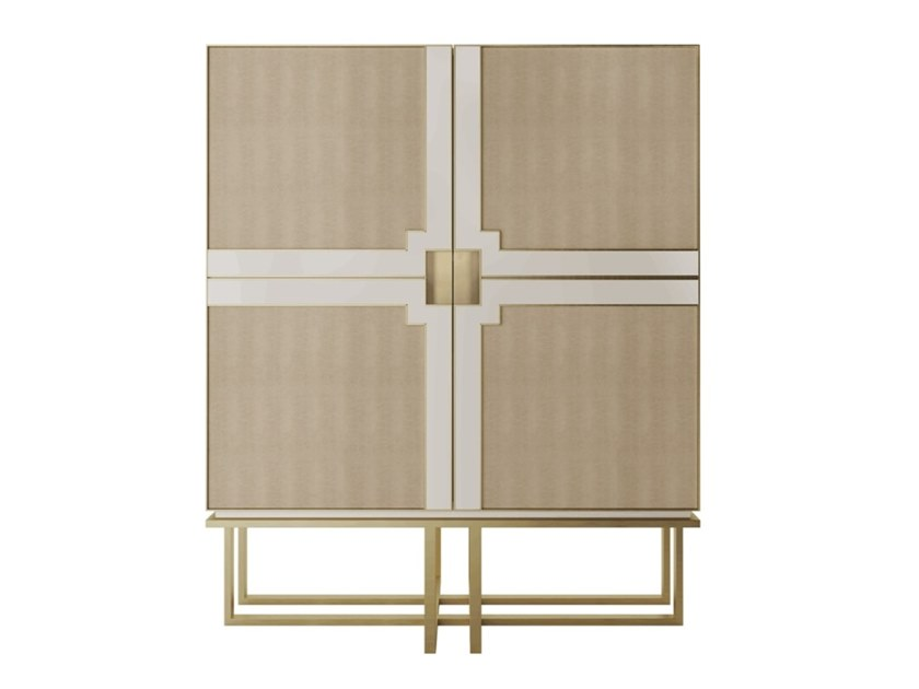 Lacquered wooden cabinet with doors BOURBON by FRATO