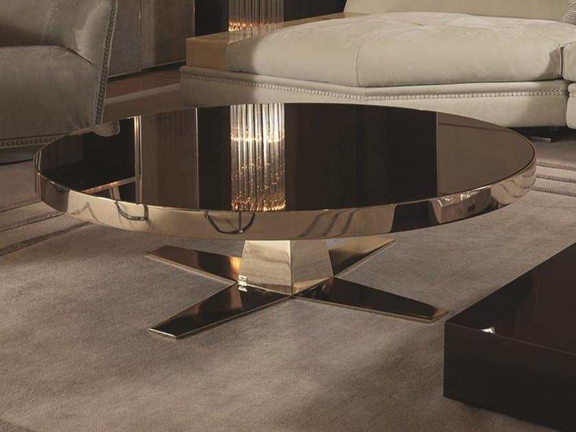 Tavolino rotondo in metallo BOURBON | Tavolino in metallo by Longhi