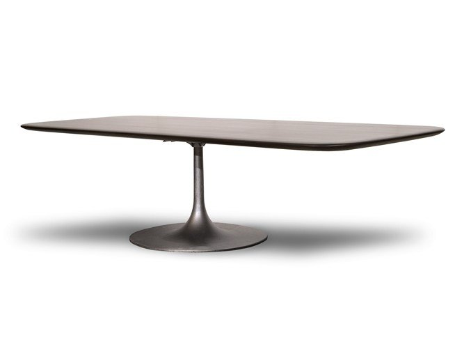 Rectangular solid wood table BOURGEOIS | Rectangular table by BAXTER