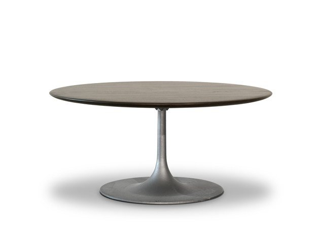 Round solid wood table BOURGEOIS | Round table by BAXTER