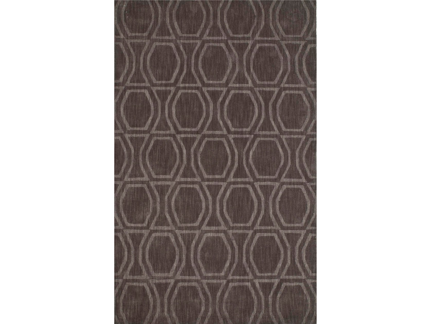 Wool rug BOW TILE PHWL-77 Liquorice by Jaipur Rugs
