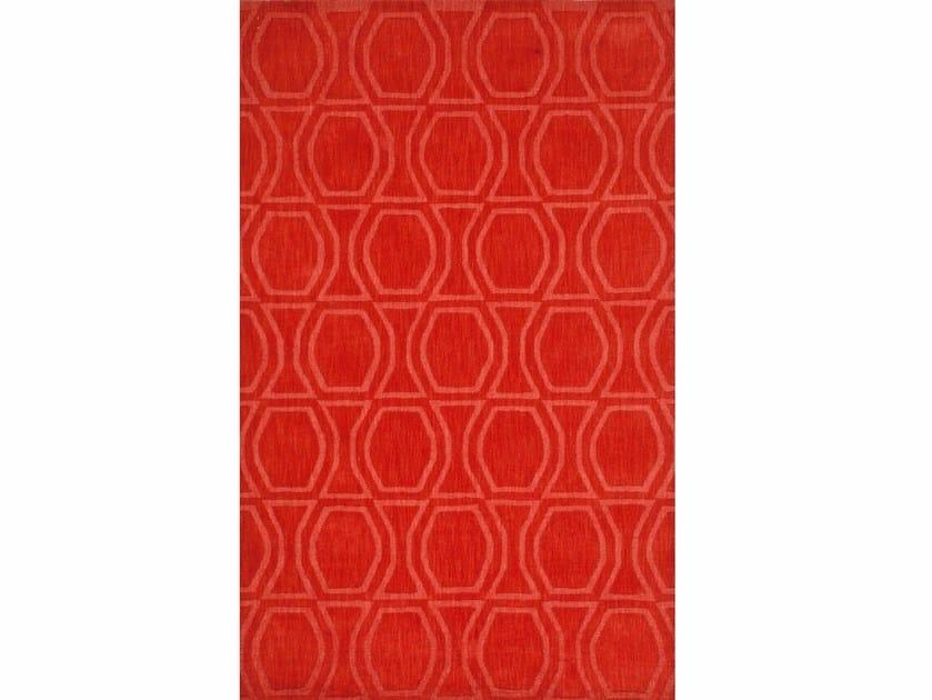 Wool rug BOW TILE PHWL-77 Fiery Red by Jaipur Rugs