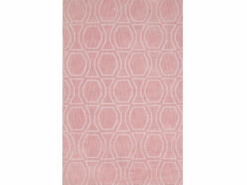 Wool rug BOW TILE PHWL-77 Rose Smoke by Jaipur Rugs