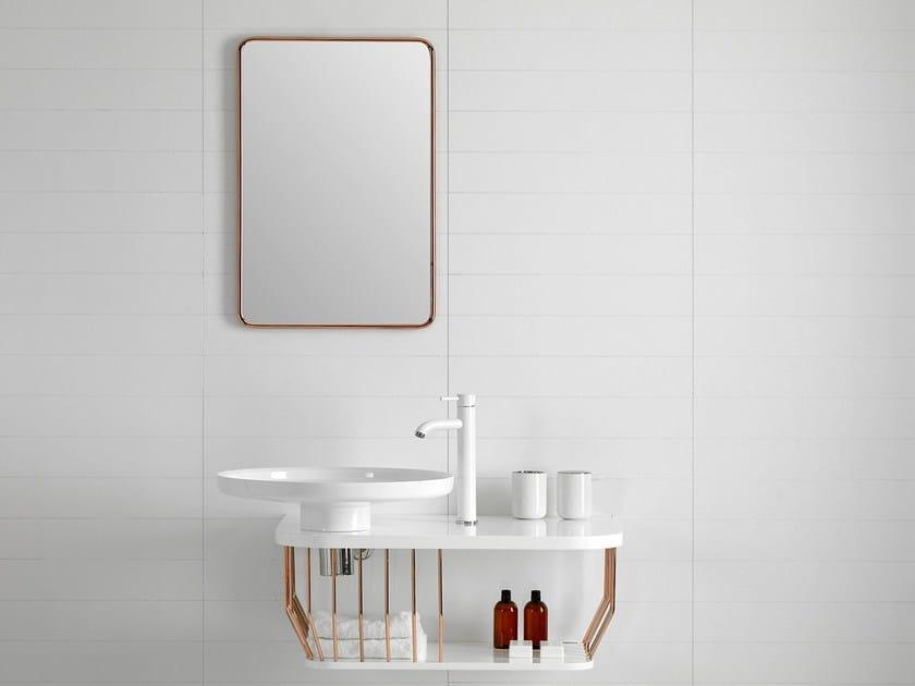Rectangular wall-mounted mirror BOWL | Wall-mounted mirror by INBANI