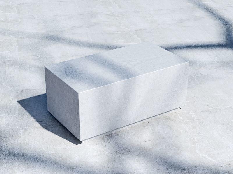 Panchina in calcestruzzo senza schienale BOX (100) by SIT