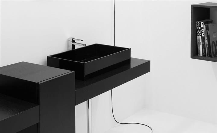 Countertop rectangular washbasin BOX 60 | Countertop washbasin by GSG Ceramic Design