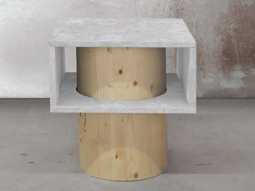 Square coffee table BOX | Square coffee table by Atelier Bussière