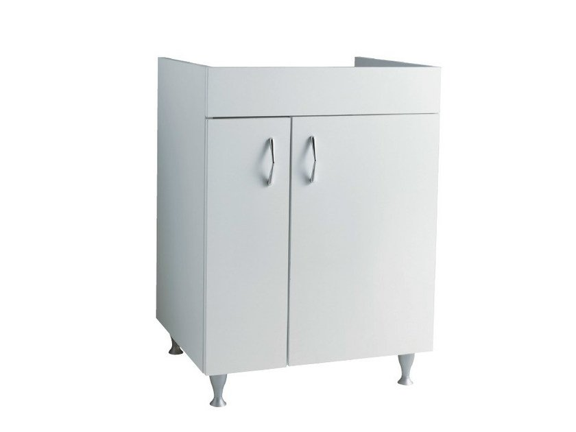 Wooden vanity unit with doors BRACCIANO | Vanity unit by Alice Ceramica