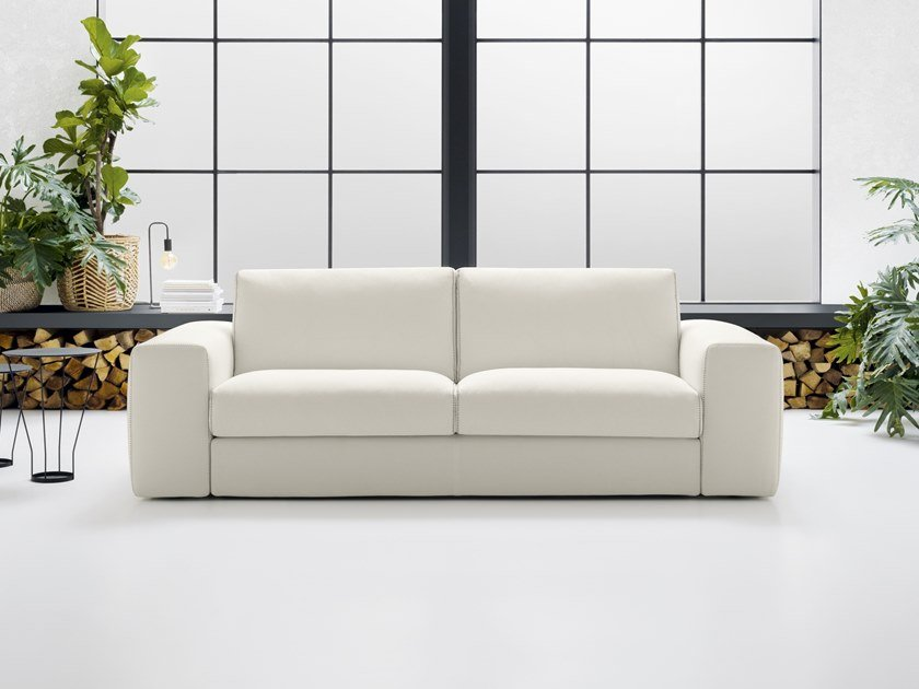 Contemporary style 3 seater upholstered fabric sofa ...