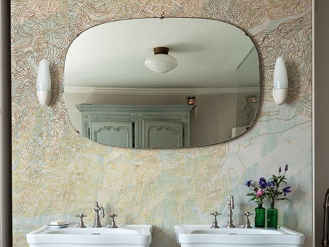 Bathroom wallpaper BRAINSTORM by Wall&decò