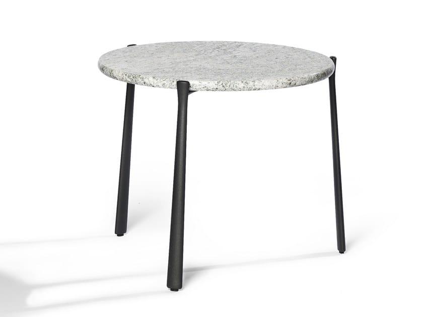 Round Granite Garden Side Table Branch Round Coffee