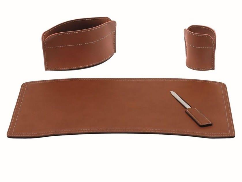 Bonded leather desk set BRANDO 4 PZ by LIMAC design FIRESTYLE