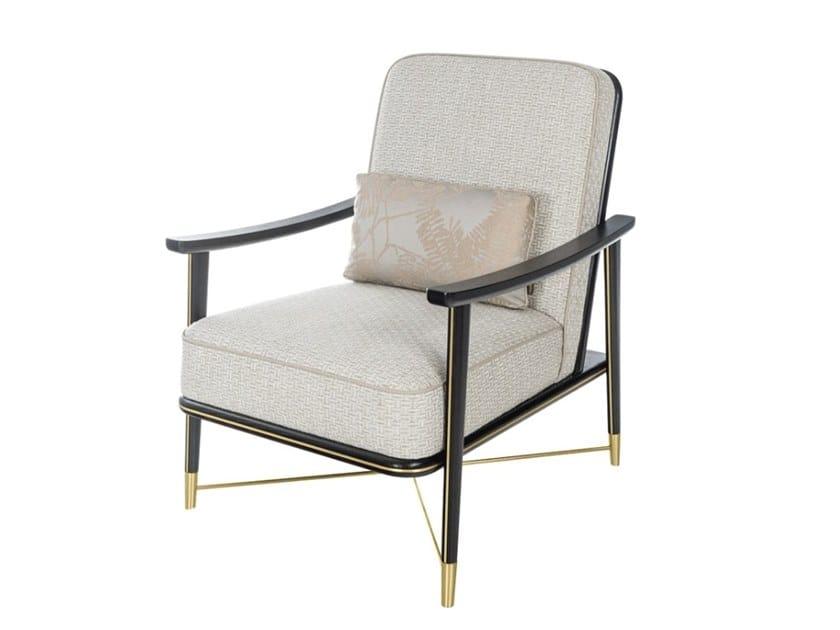 Fabric armchair with armrests BRASILIA | Armchair by FRATO