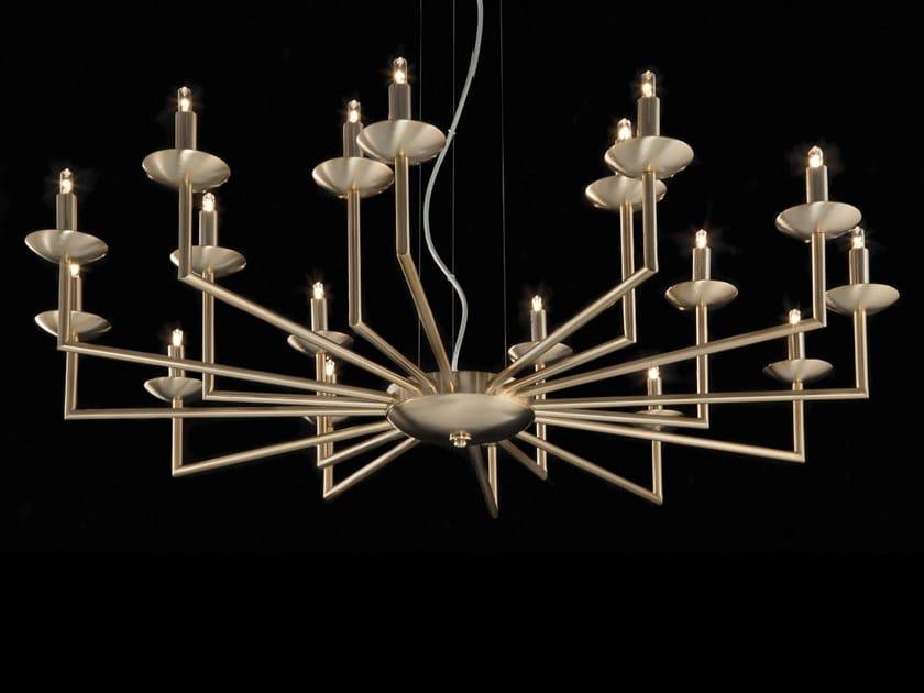 LED brass chandelier METROPOLITAN   Brass chandelier by Aiardini