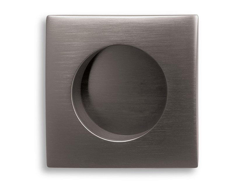 Brass keyhole escutcheon PATCH | Square keyhole escutcheon by Ento