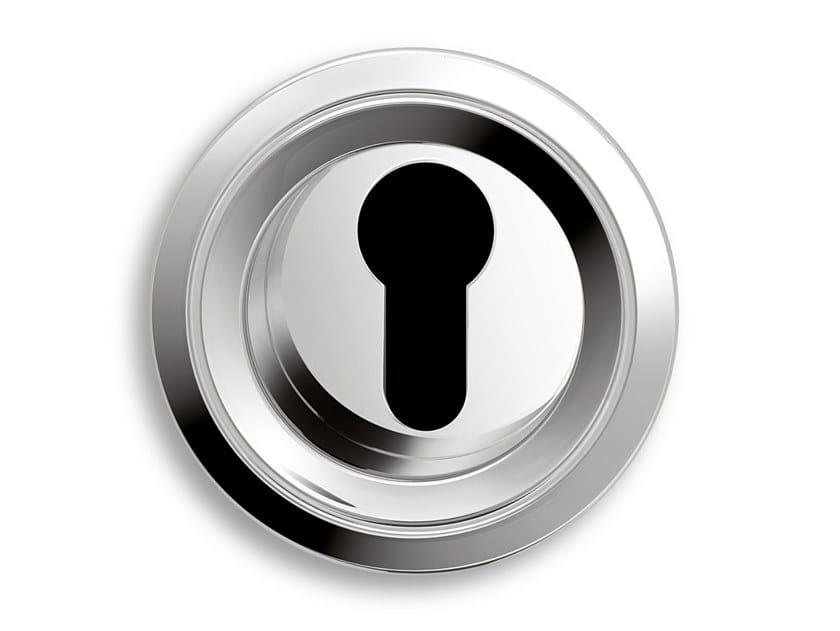 Round brass keyhole escutcheon TWIN | Metal keyhole escutcheon by Ento