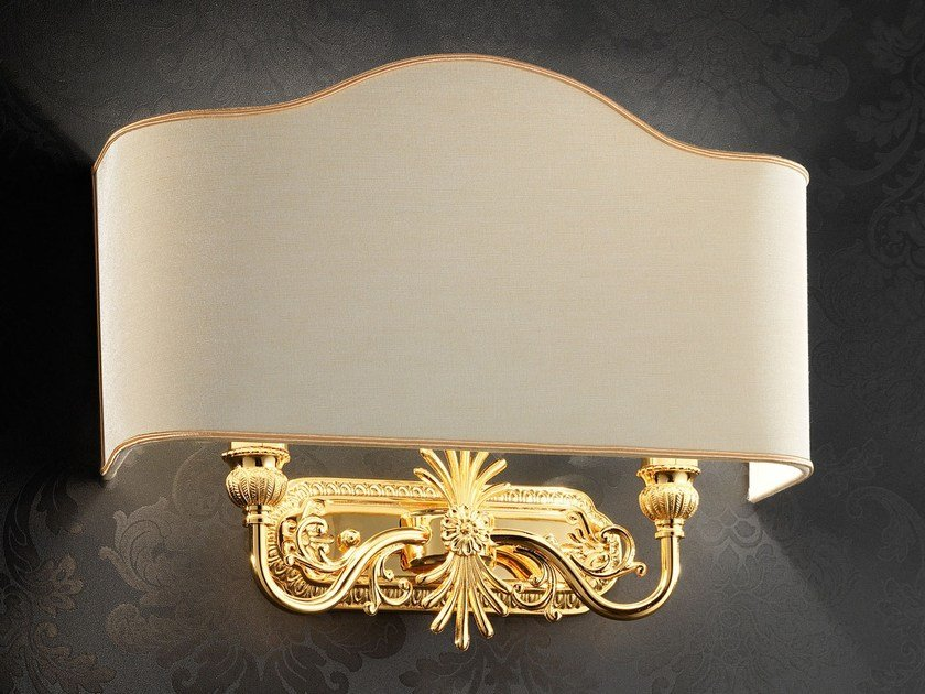 Direct light incandescent brass wall lamp BRASS & SPOTS VE 1067 by Masiero