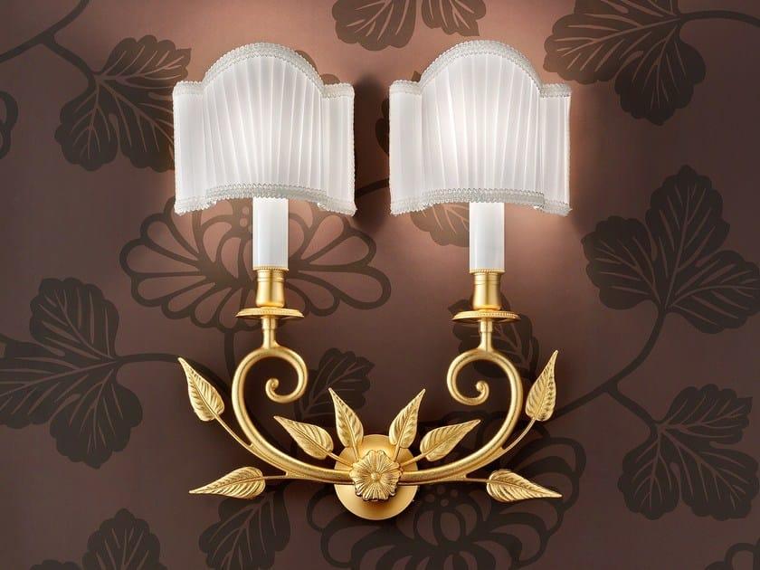 Lampada da parete a luce diretta incandescente in ottone BRASS & SPOTS VE 1070 by Masiero
