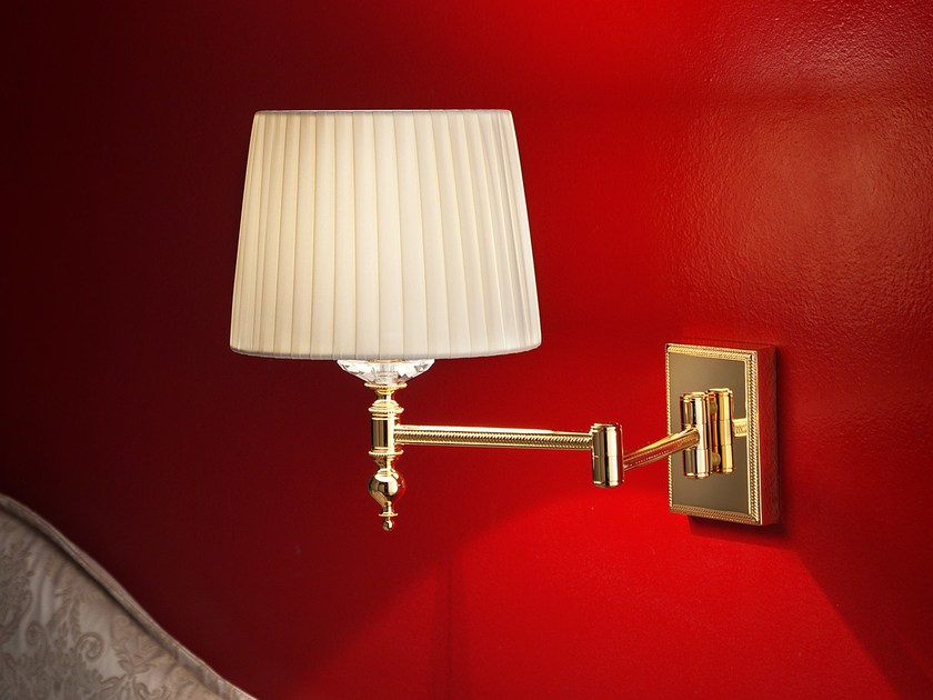 Direct light incandescent brass wall lamp BRASS & SPOTS VE 1091 by Masiero