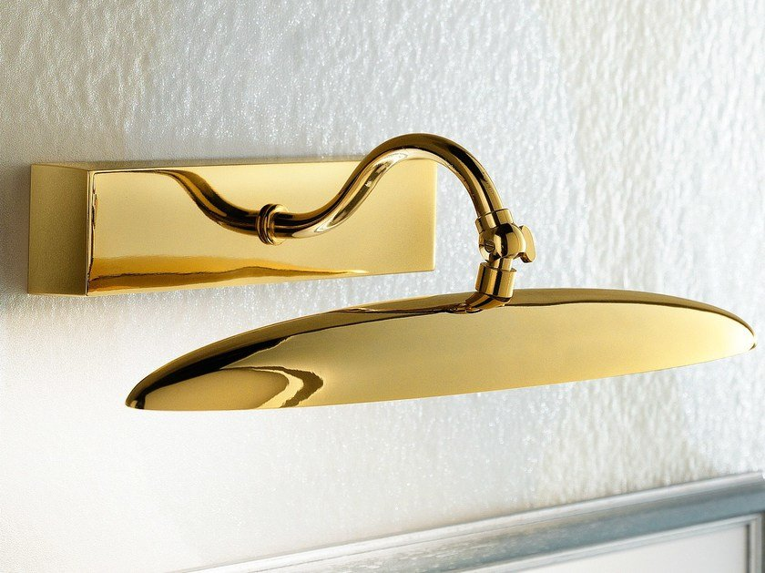 LED direct light metal wall lamp BRASS & SPOTS VE 867 by Masiero