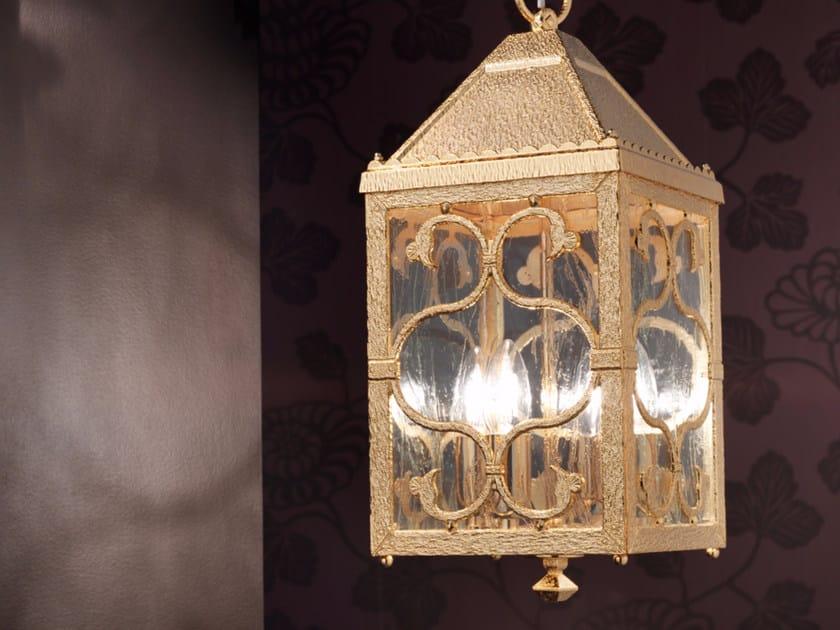 Incandescent brass pendant lamp BRASS & SPOTS VE 1064 by Masiero