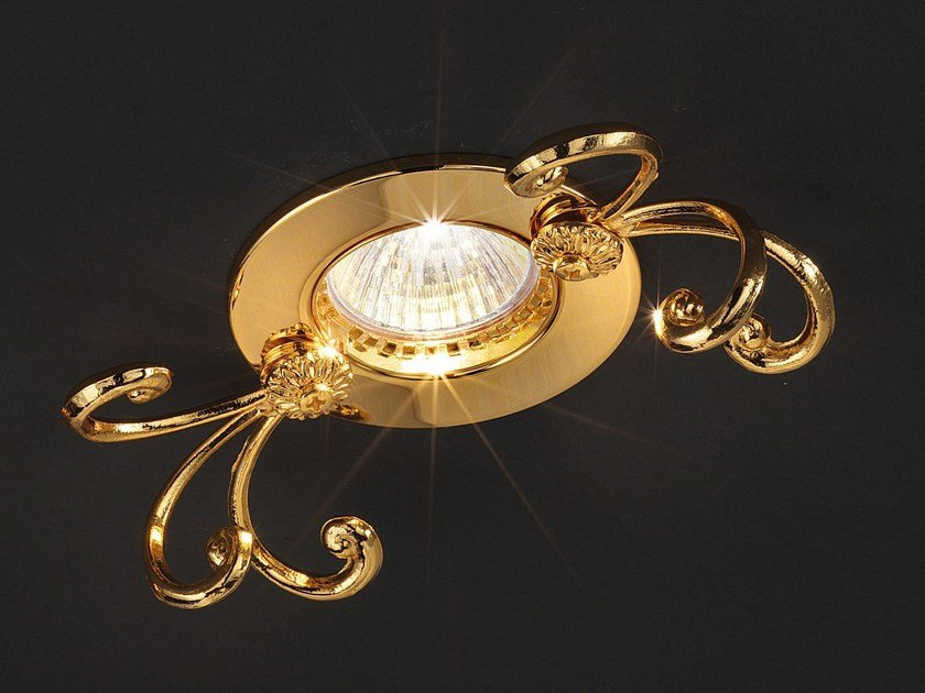Faretto da semi-incasso in ottone a soffitto BRASS & SPOTS VE 1105 by Masiero