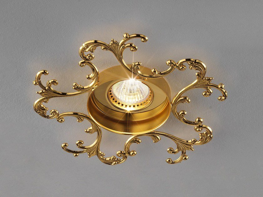 Ceiling semi-inset brass spotlight BRASS & SPOTS VE 1106 by Masiero