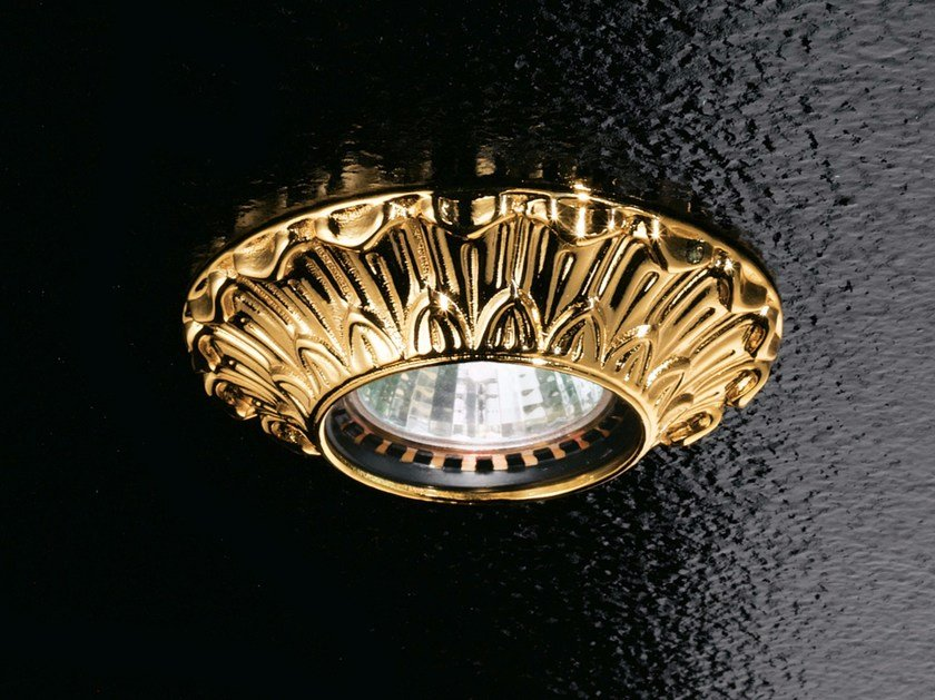Ceiling semi-inset brass spotlight BRASS & SPOTS VE 852 by Masiero
