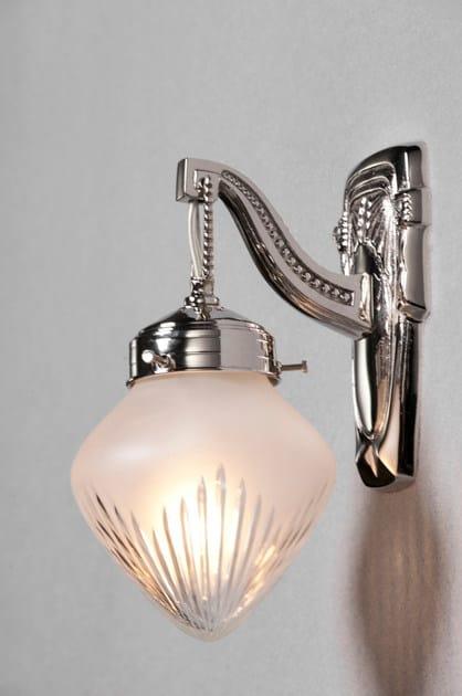 Direct light nickel wall lamp BRATISLAVA II | Nickel wall lamp by Patinas Lighting