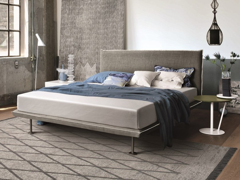 Upholstered fabric double bed BRAVO | Fabric bed by Gruppo Tomasella