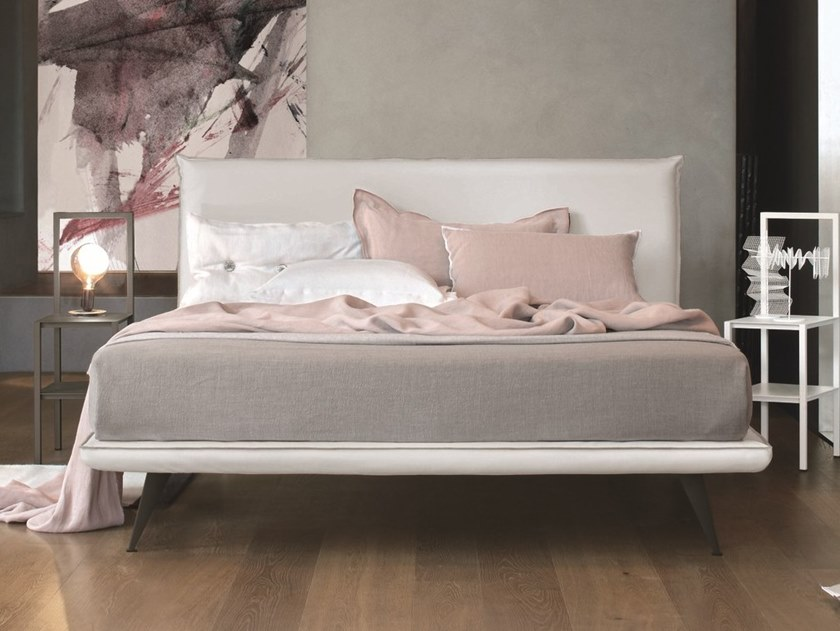 Upholstered imitation leather double bed BRAVO | Imitation leather bed by Gruppo Tomasella
