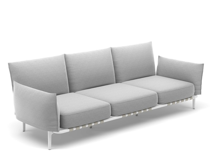 3 seater fabric sofa with removable cover BREA | 3 seater sofa by DEDON