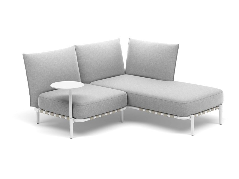 2 seater fabric sofa with removable cover with chaise longue