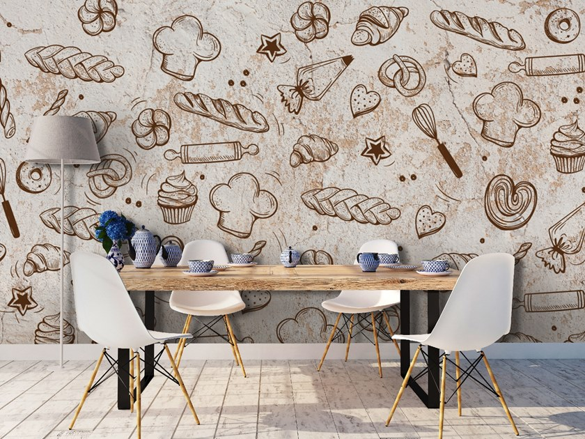 Motif wallpaper BREAD by Wall LCA