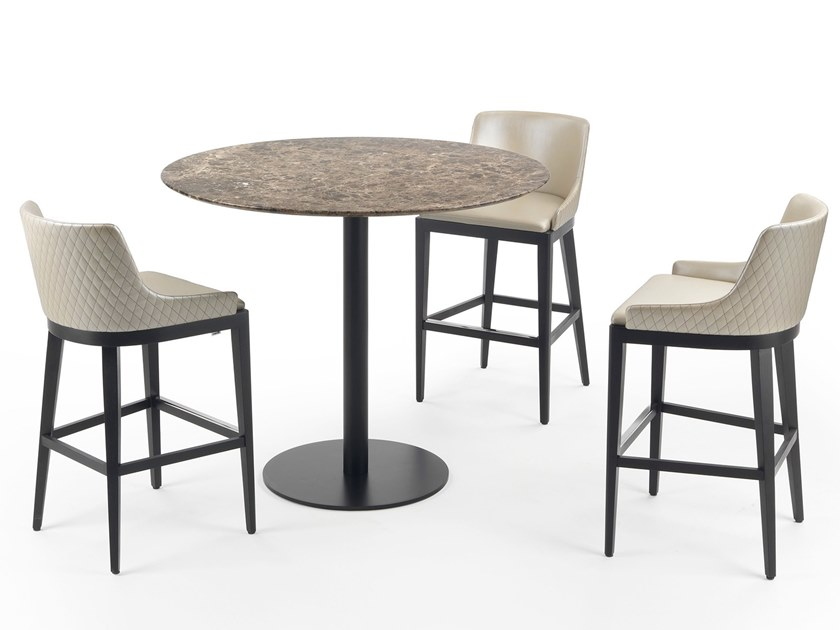Round marble high table BREAK | High table by Marelli