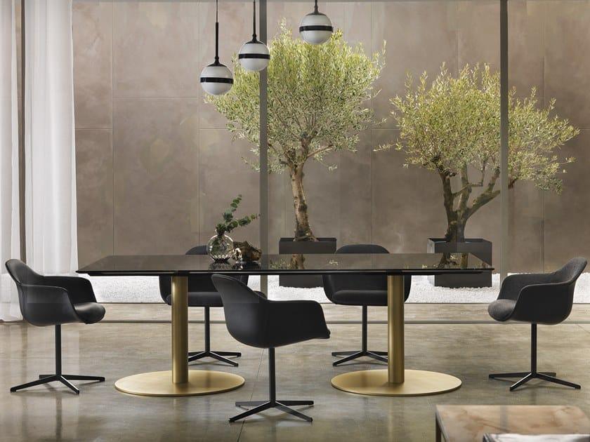 Rectangular marble table BREAK   Rectangular table by Marelli