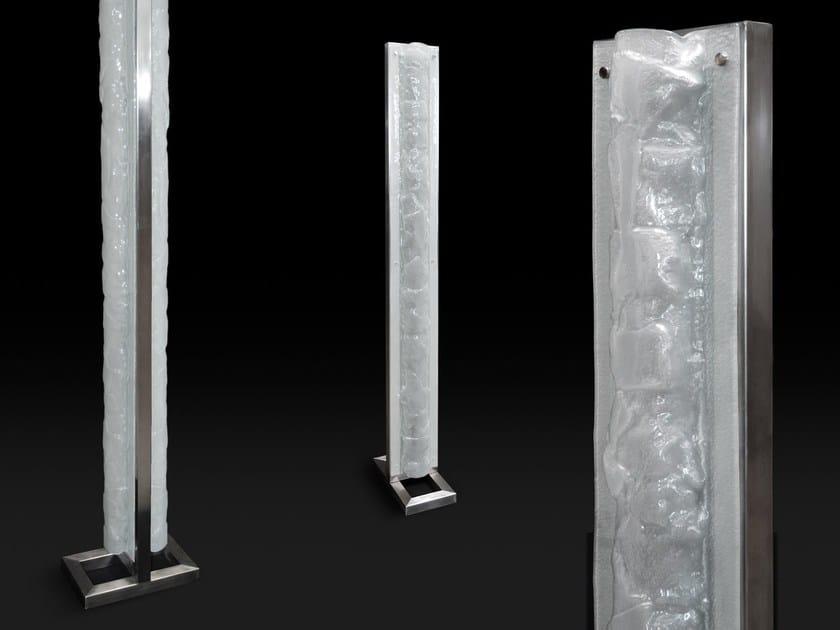 Lampada da terra a LED in vetro BREEZE by Baranska Design